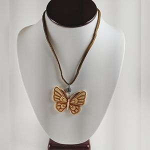 🖤3 for 25🖤Butterfly Leather Cord Boho Necklace